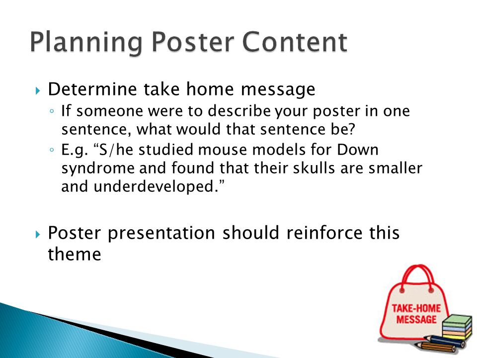 Planning Poster Content