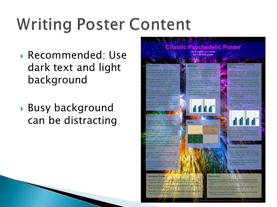 Writing Poster Content