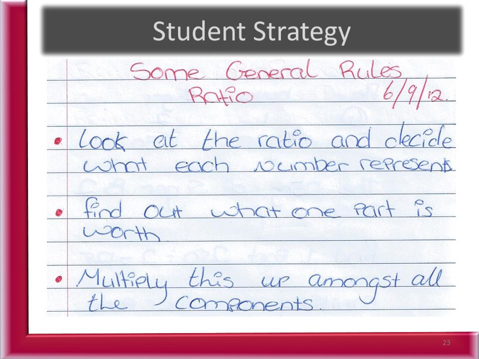 Student Strategy