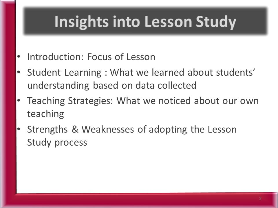 Insights into Lesson Study