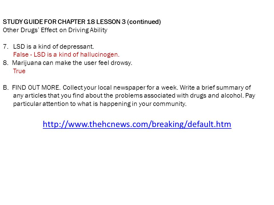 STUDY GUIDE FOR CHAPTER 18 LESSON 3 (continued)