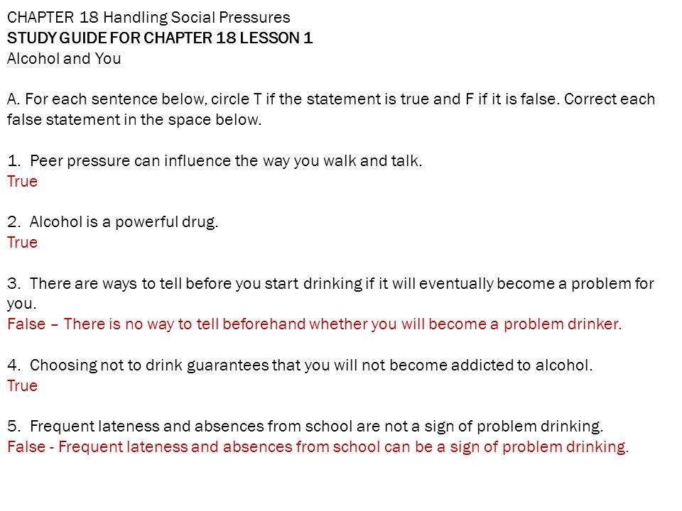 CHAPTER 18 Handling Social Pressures
