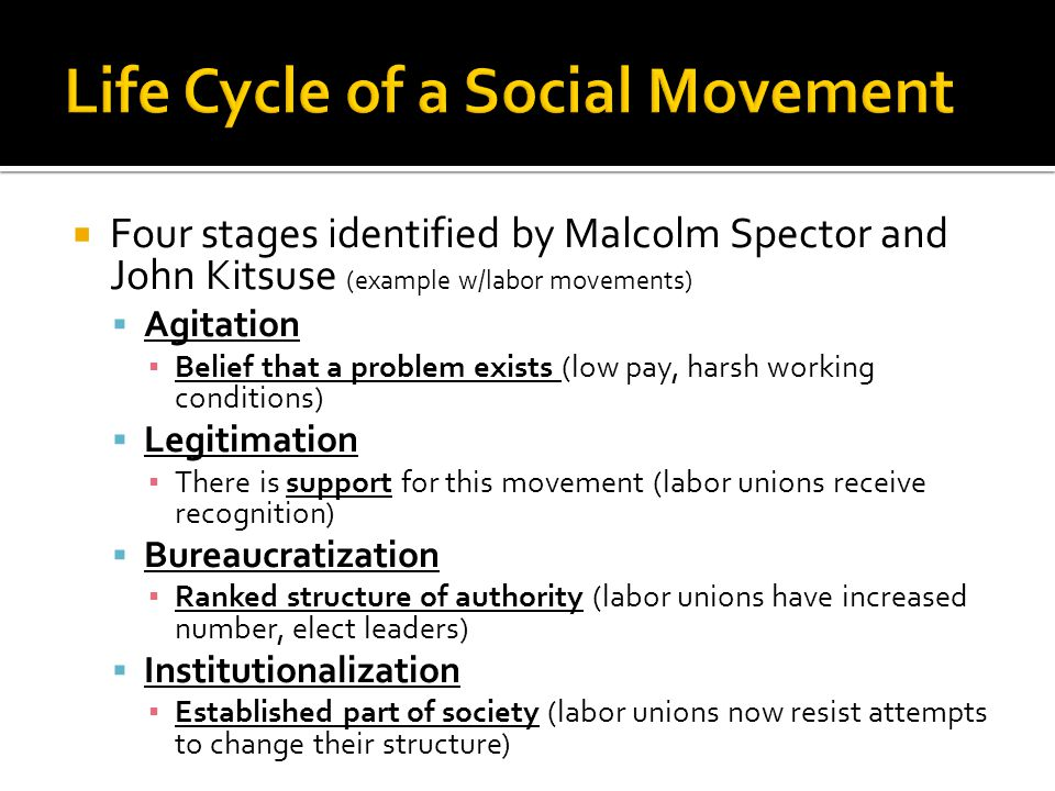 Life Cycle of a Social Movement