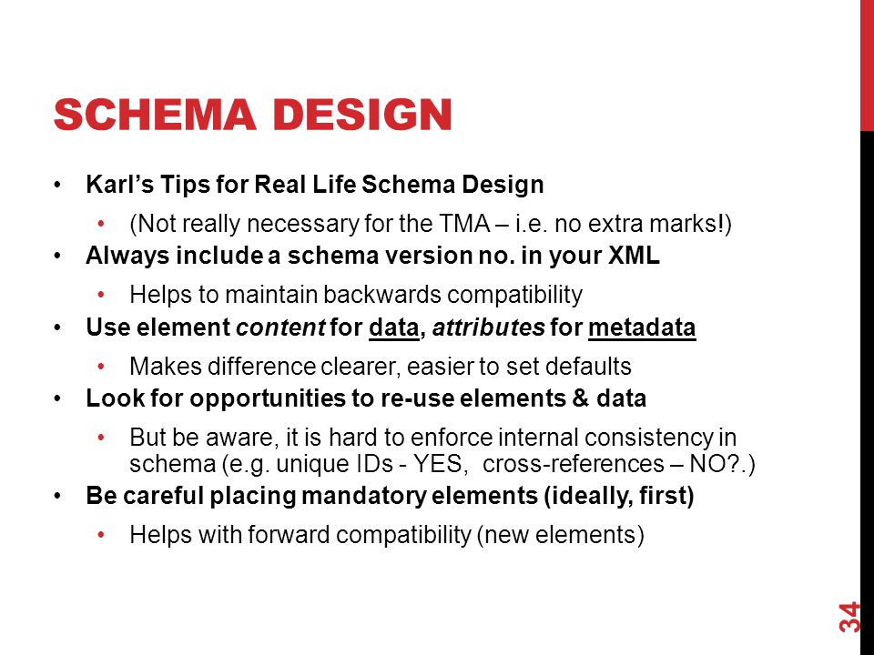 Schema Design Karl's Tips for Real Life Schema Design
