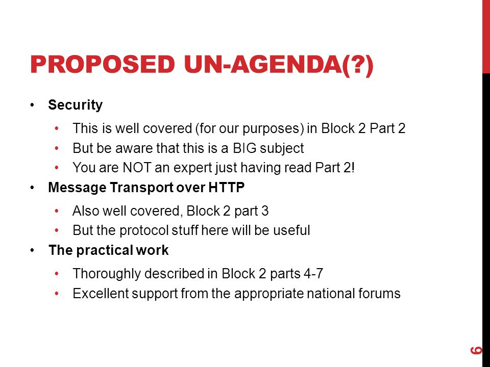 Proposed Un-agenda( ) Security