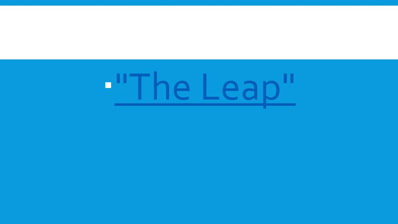 The Leap