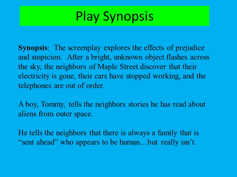 Play Synopsis