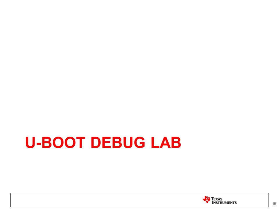 U-Boot Debug Lab