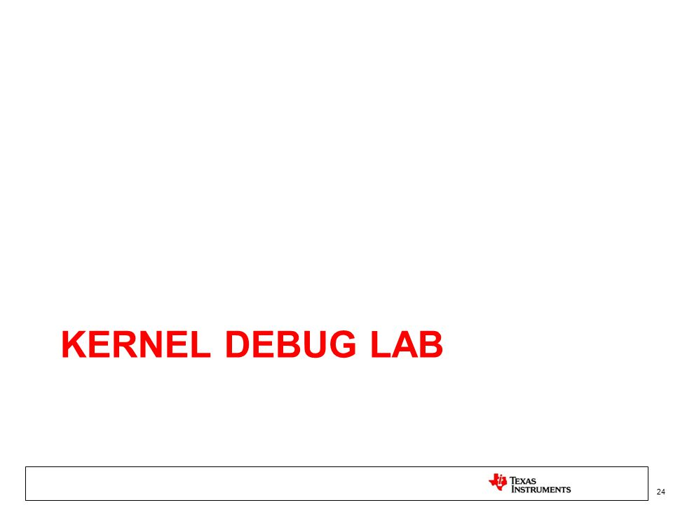 Kernel Debug Lab