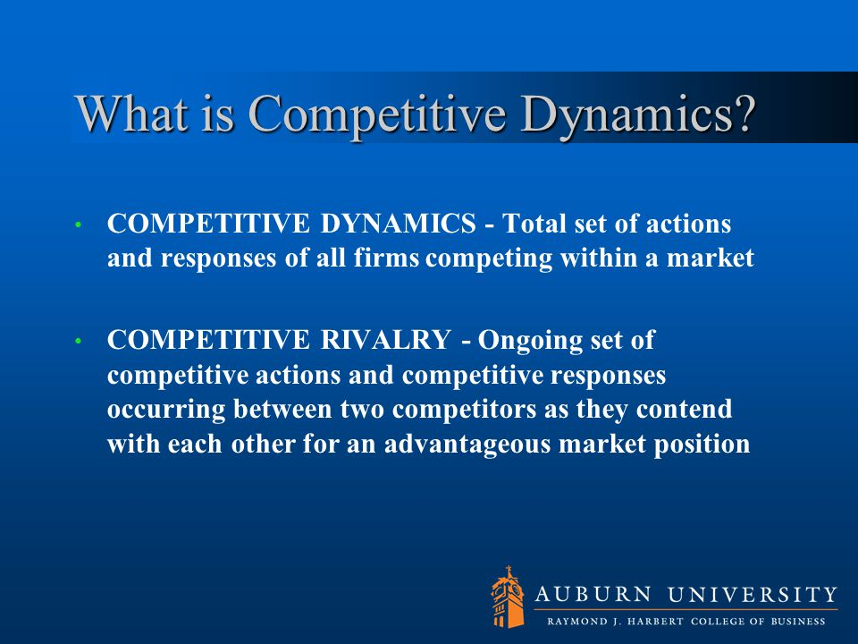What is Competitive Dynamics
