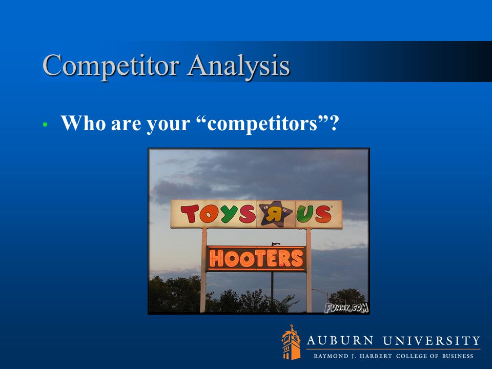 Competitor Analysis Who are your competitors Market commonality