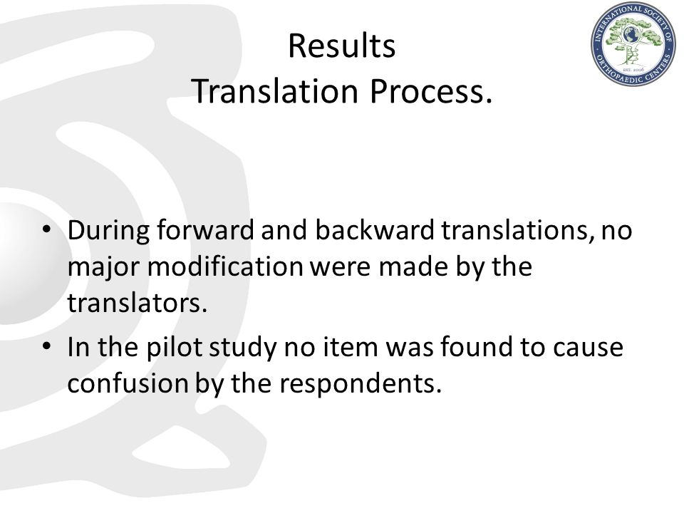 Results Translation Process.