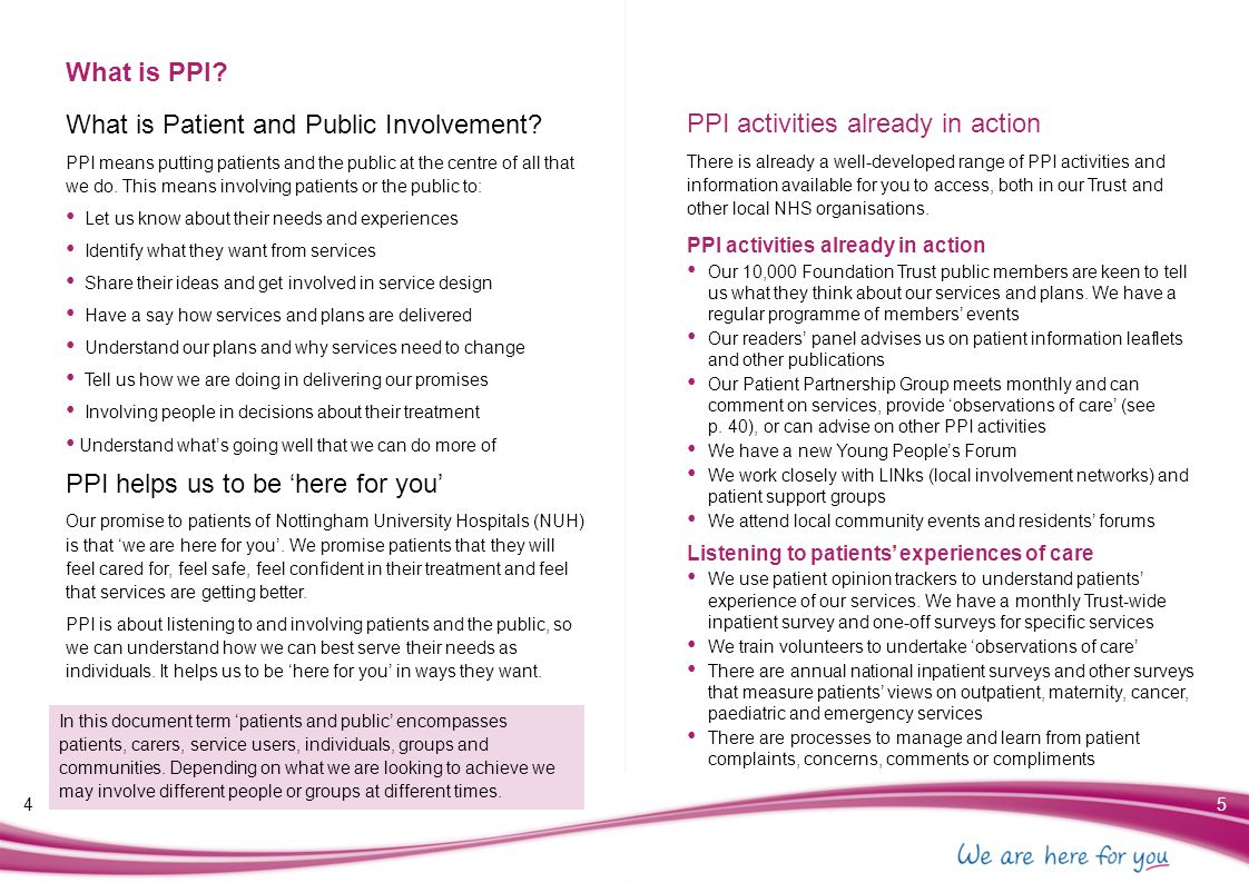 What is Patient and Public Involvement
