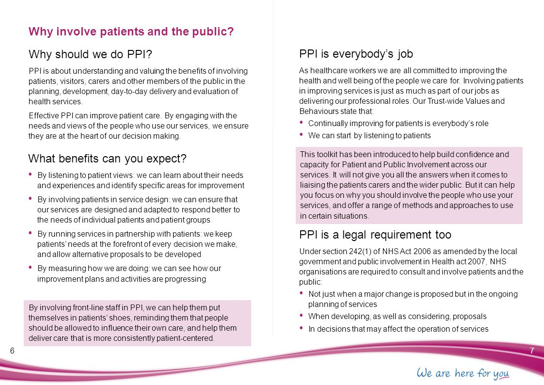 Why involve patients and the public