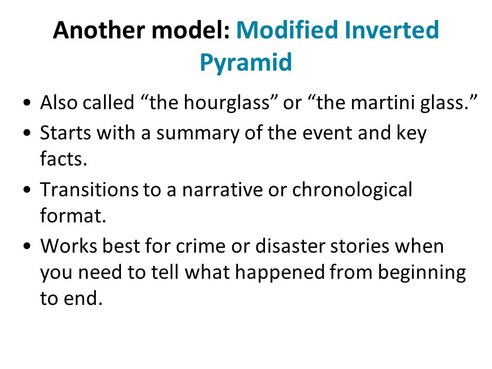 Another model: Modified Inverted Pyramid