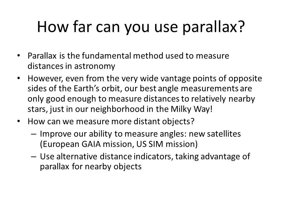 How far can you use parallax