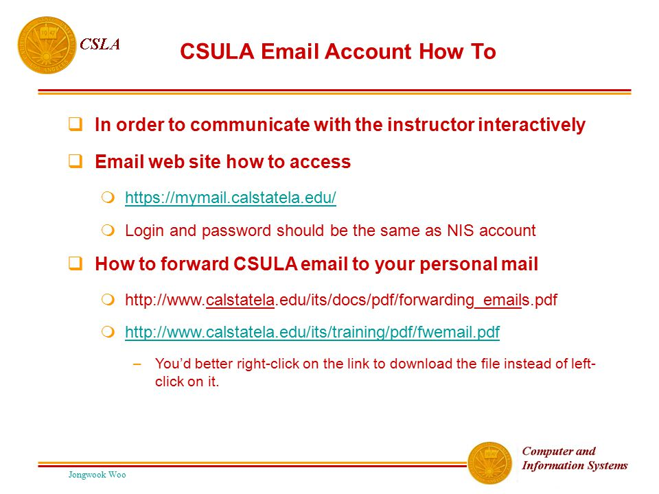 CSULA Email Account How To