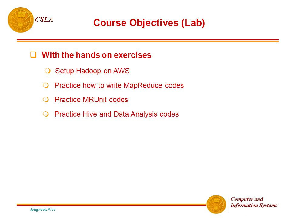 Course Objectives (Lab)