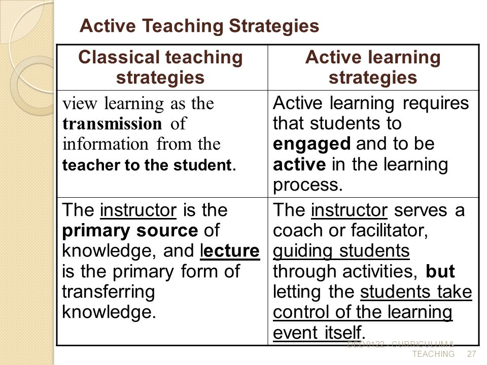 Strategies of Knowledge Acquisition - Education For