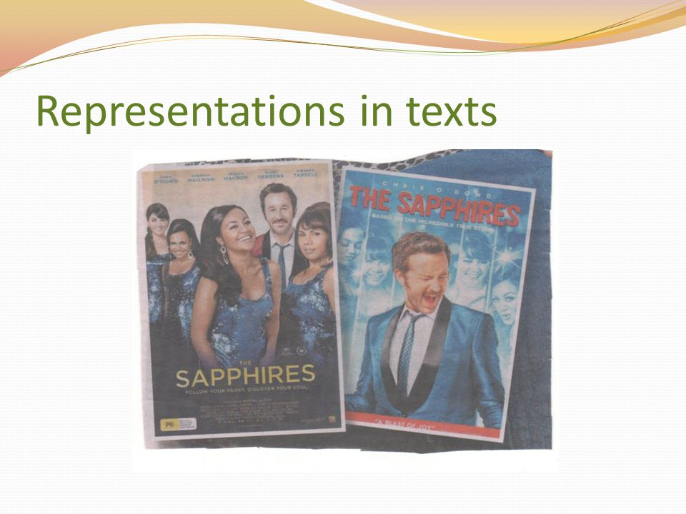 Representations in texts