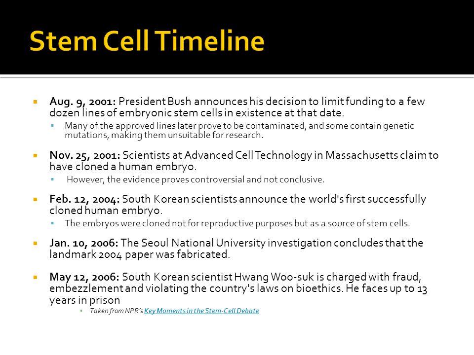 Stem Cell Timeline