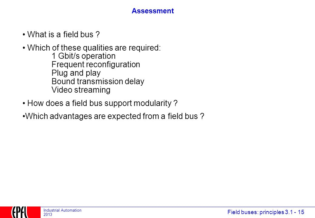 How does a field bus support modularity