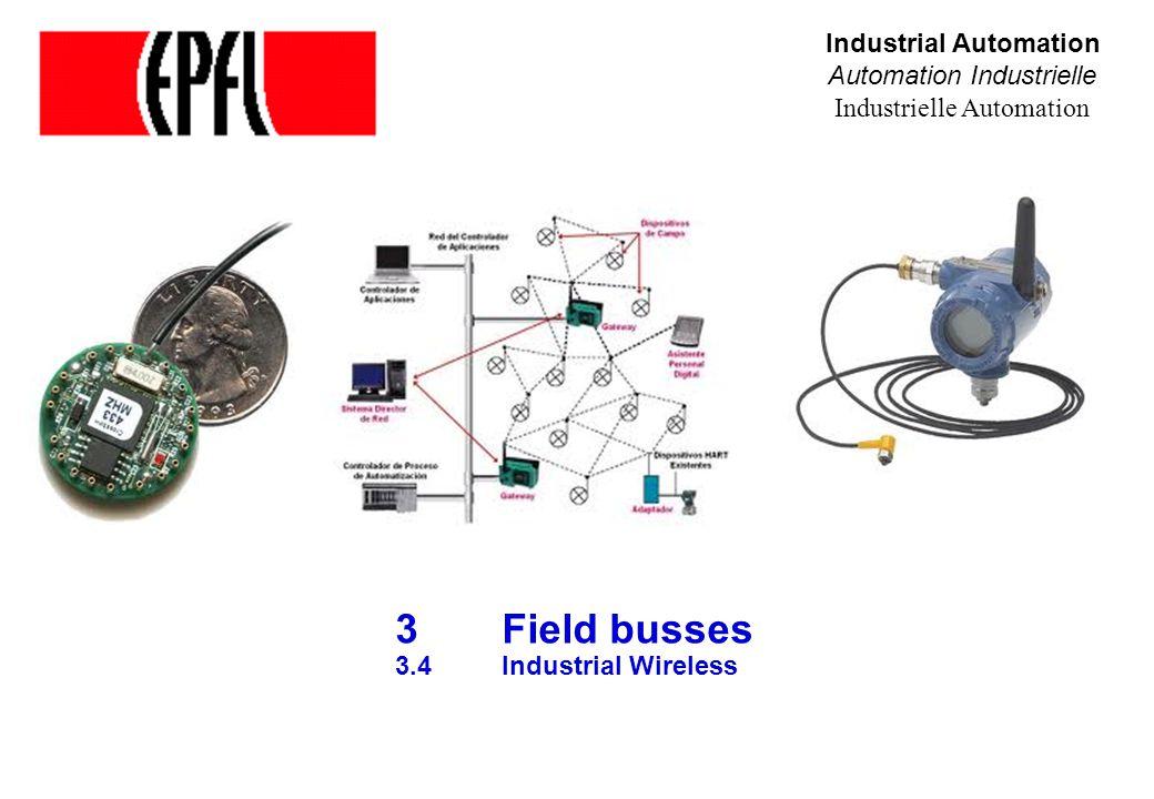 3 Field busses 3.4 Industrial Wireless