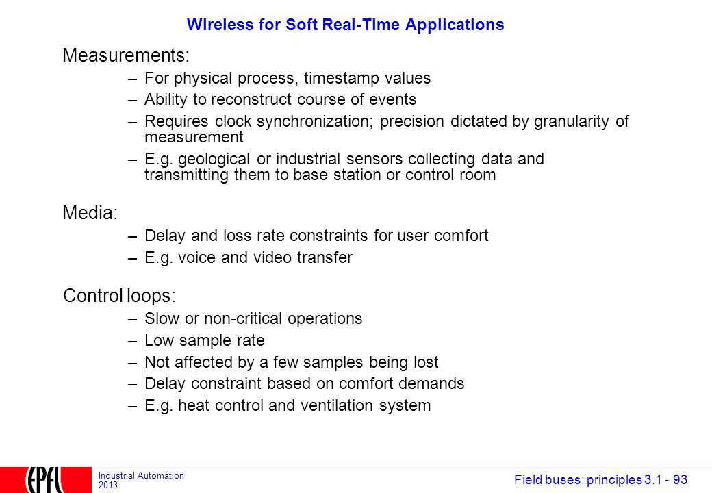 Wireless for Soft Real-Time Applications