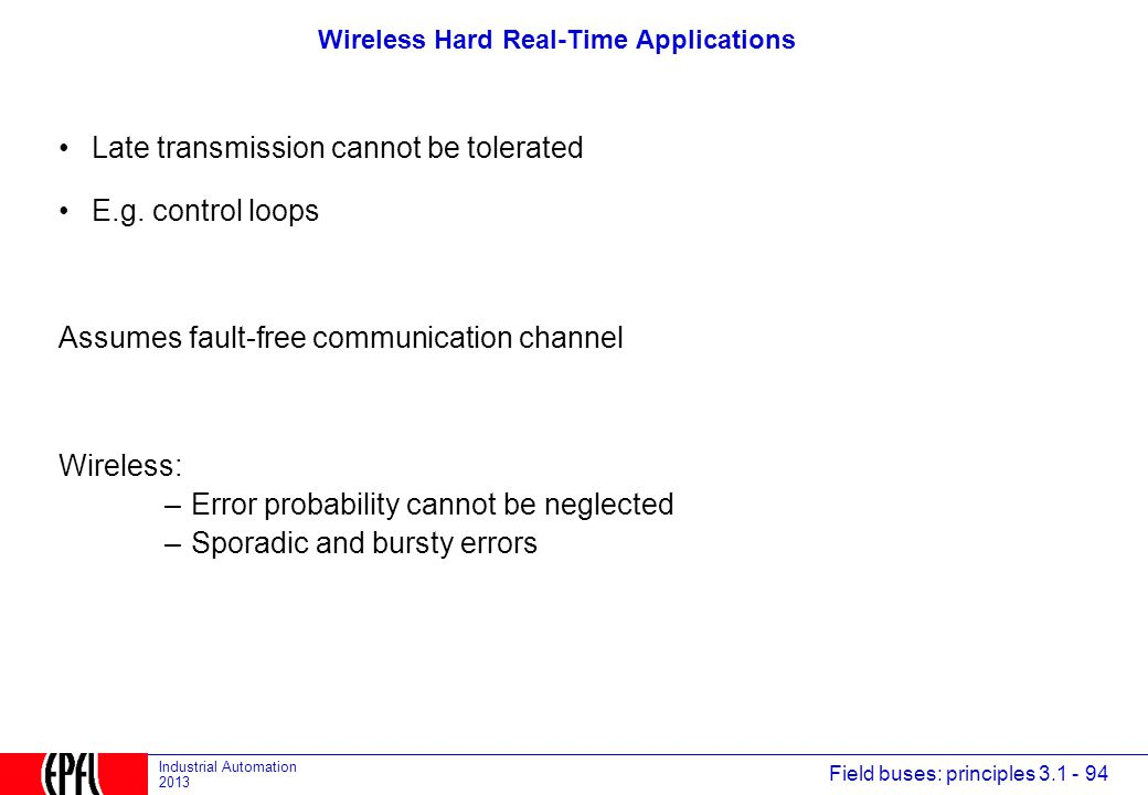Wireless Hard Real-Time Applications