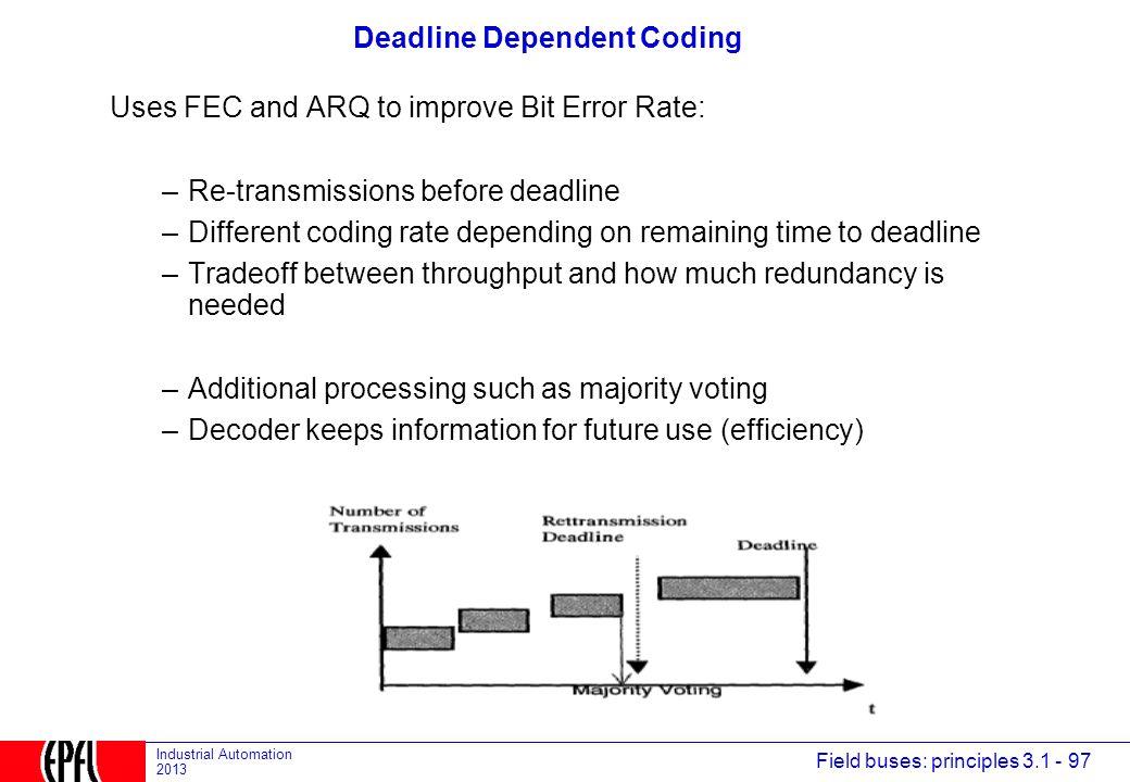 Deadline Dependent Coding