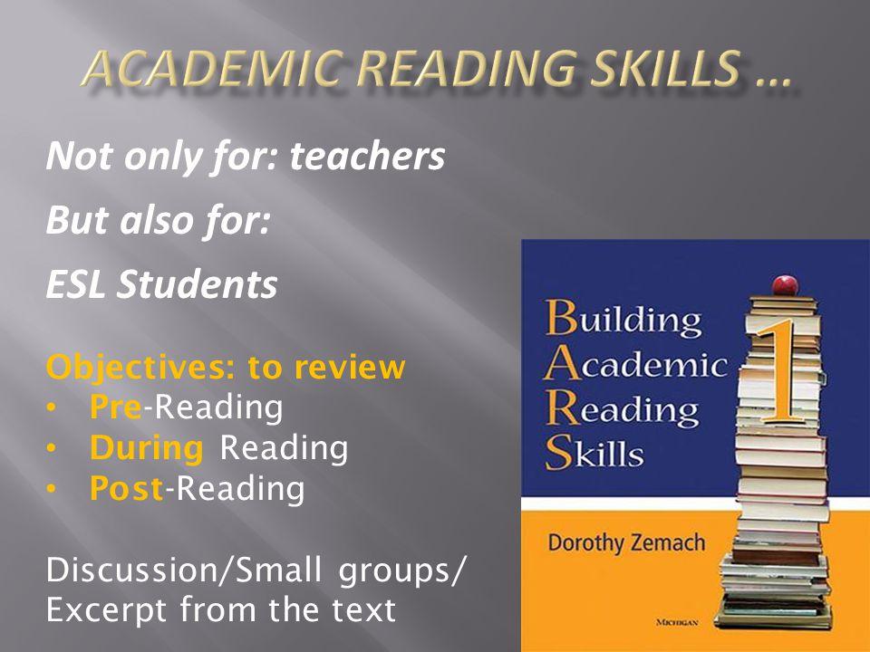 Academic Reading Skills …