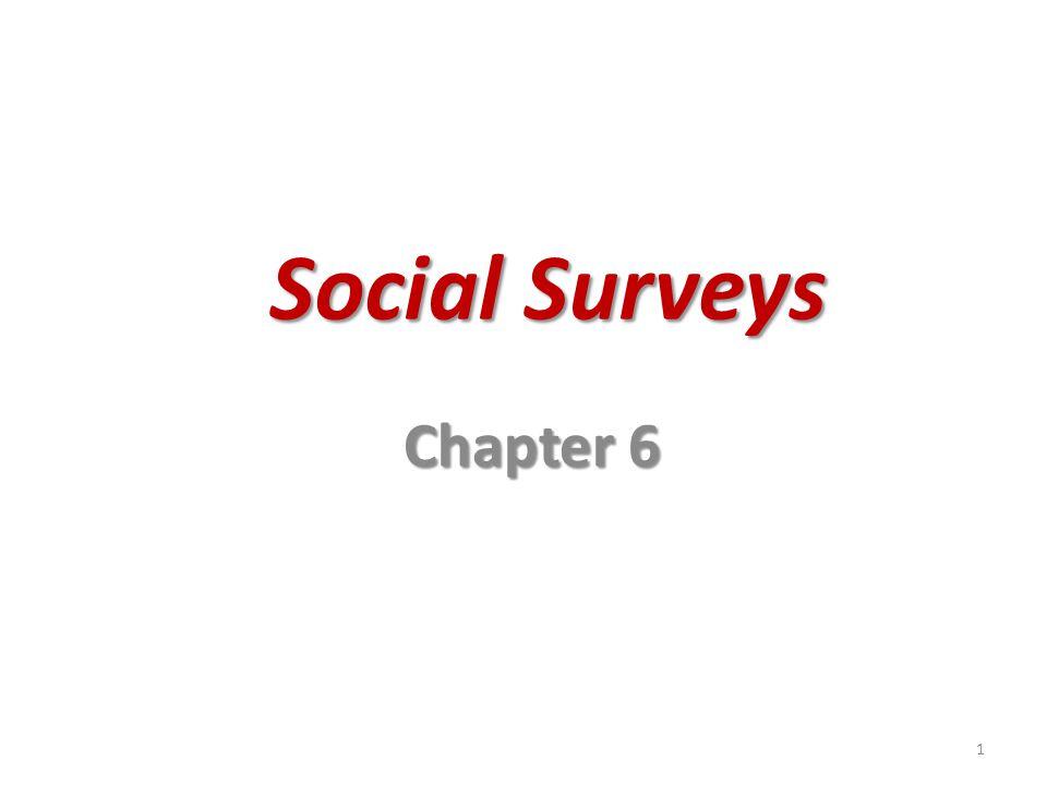 Social Surveys Chapter 6
