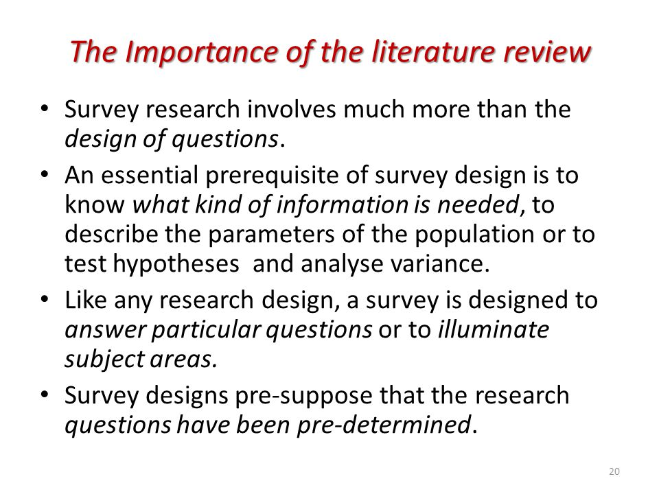 importance of literature review in research project Research projects may not always be aware of the importance of the literature review or have an.