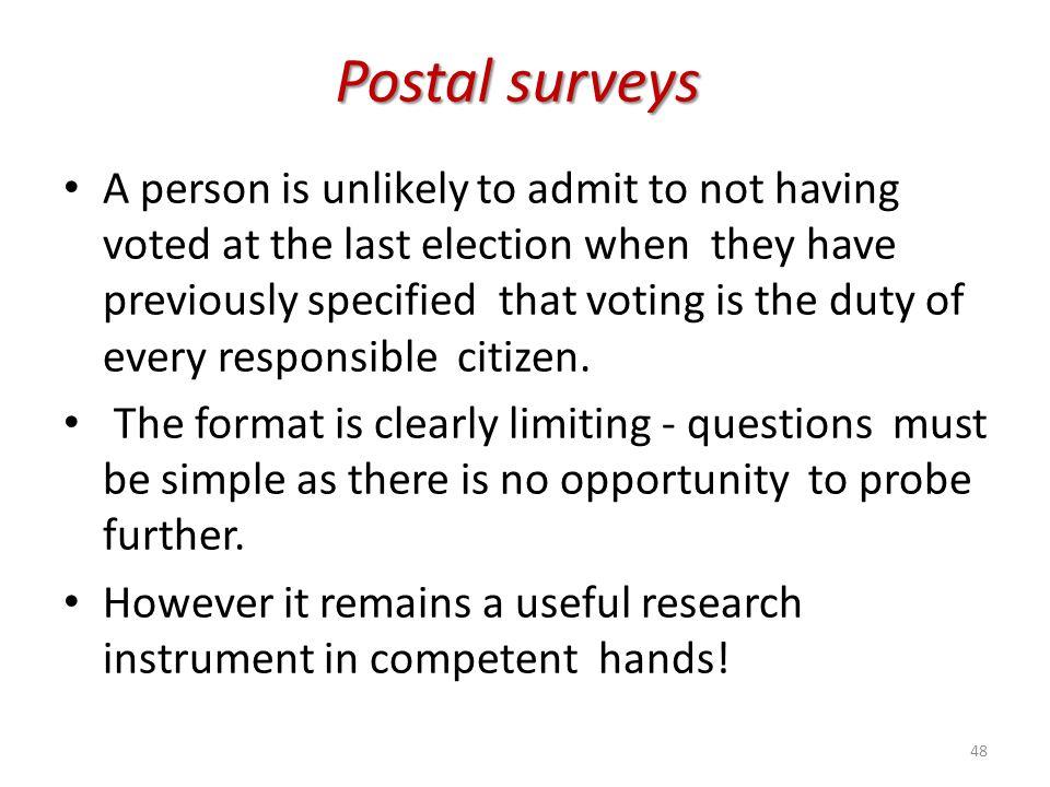 Postal surveys