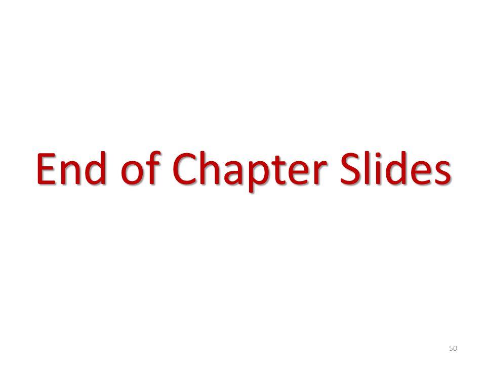 End of Chapter Slides