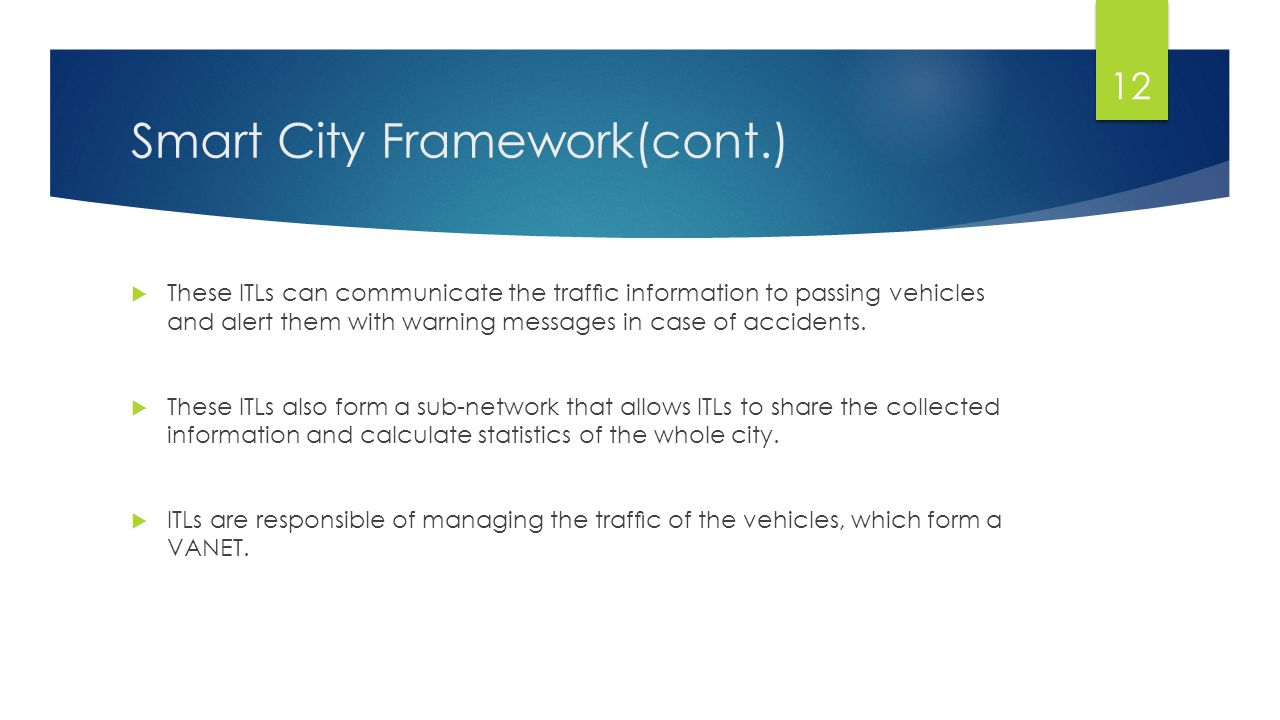 Smart City Framework(cont.)