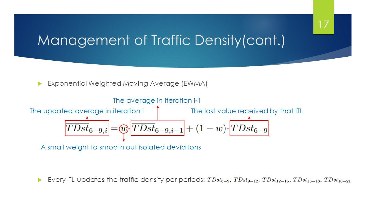 Management of Traffic Density(cont.)