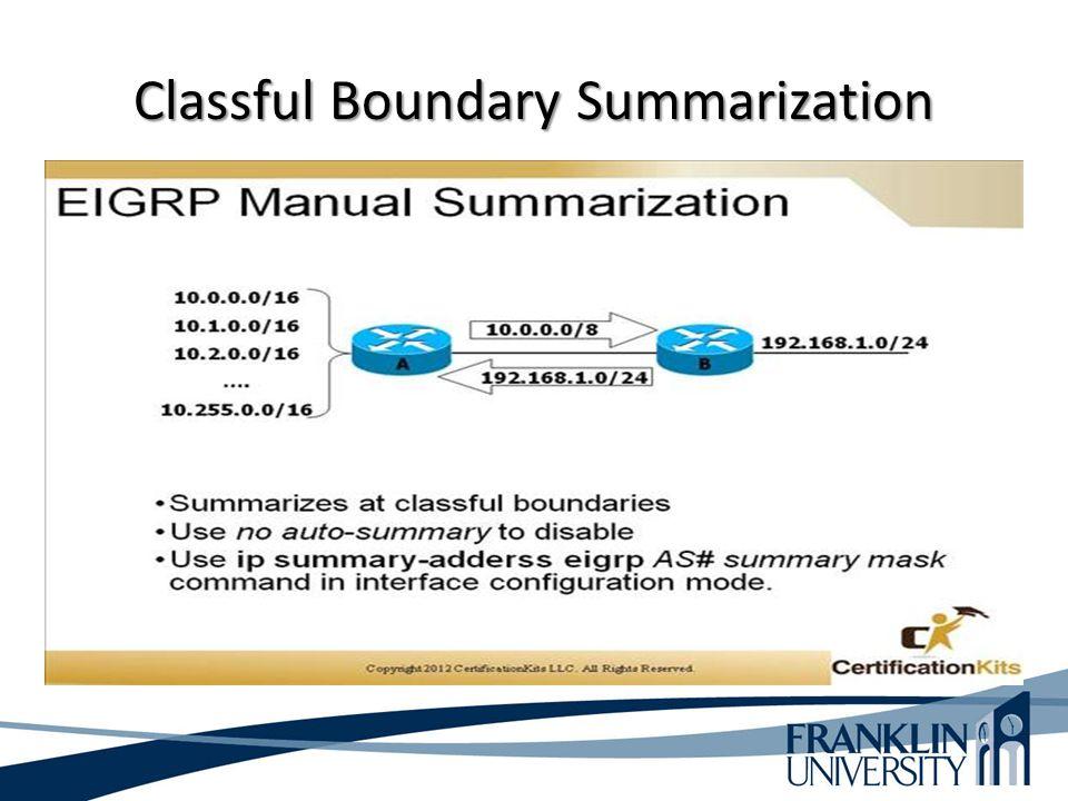 Classful Boundary Summarization