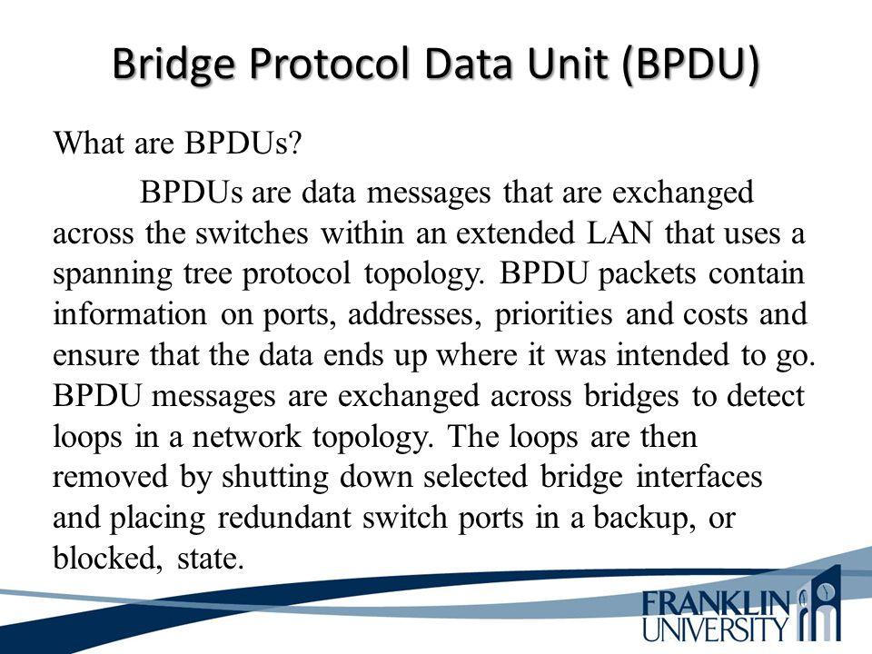 Bridge Protocol Data Unit (BPDU)