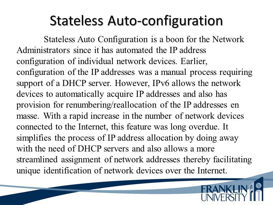 Stateless Auto-configuration