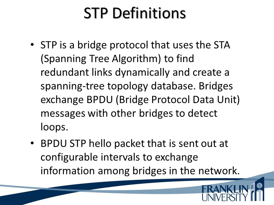 STP Definitions