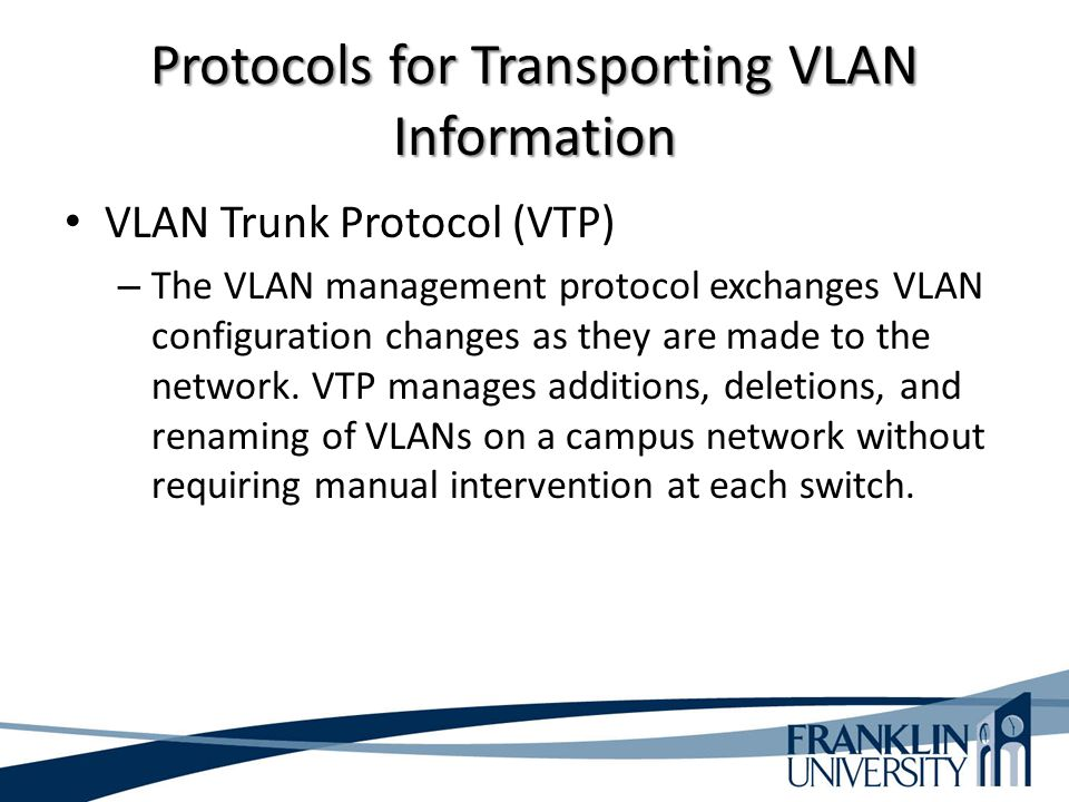 Protocols for Transporting VLAN Information