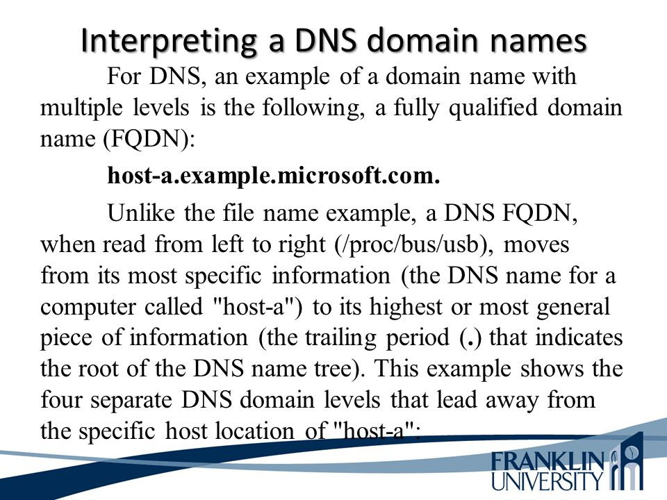 Interpreting a DNS domain names