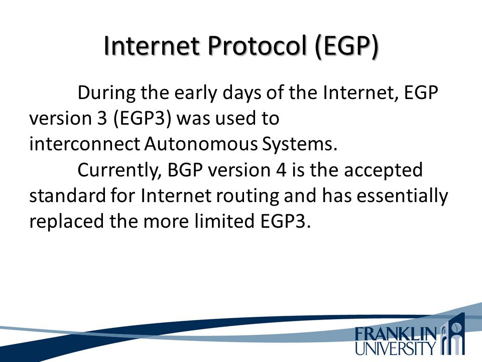 Internet Protocol (EGP)