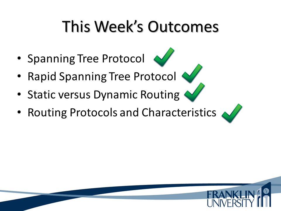 This Week's Outcomes Spanning Tree Protocol