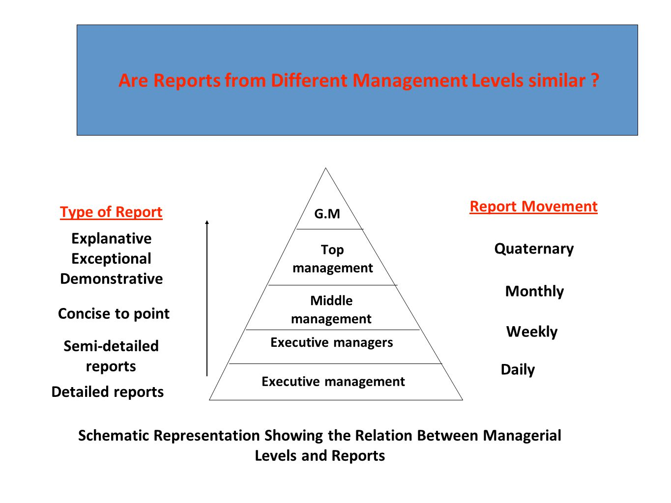Are Reports from Different Management Levels similar