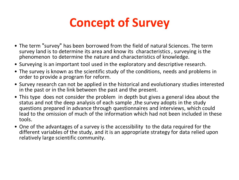 Concept of Survey