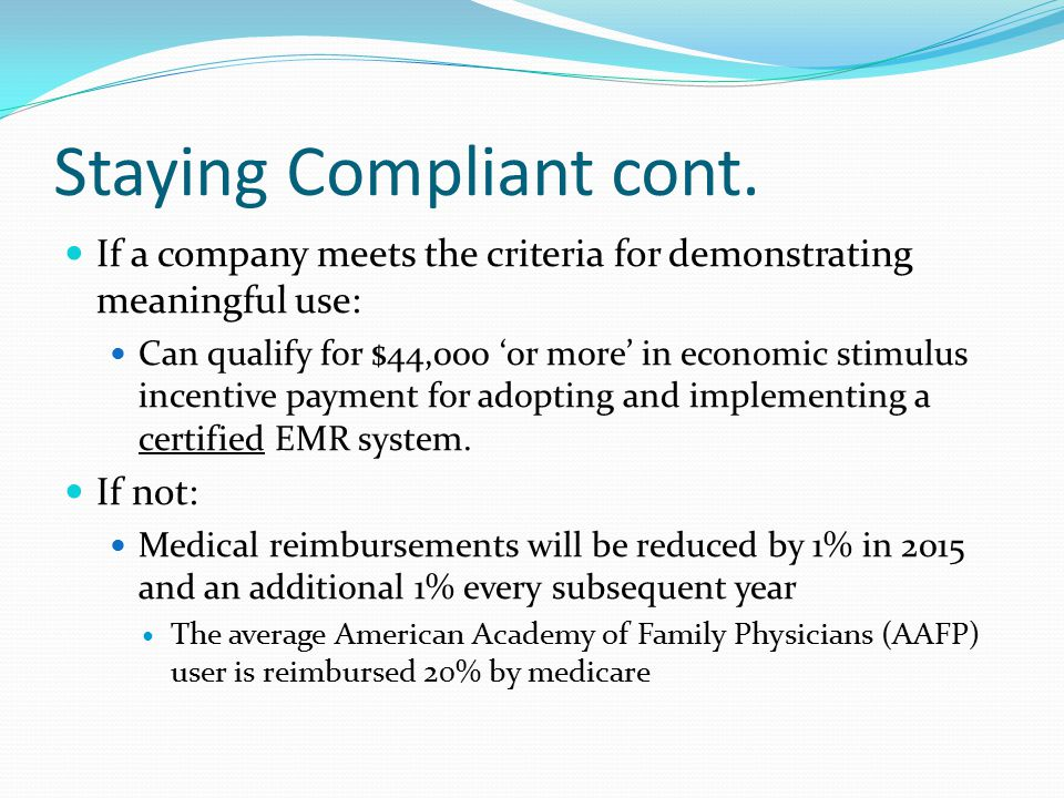 Staying Compliant cont.
