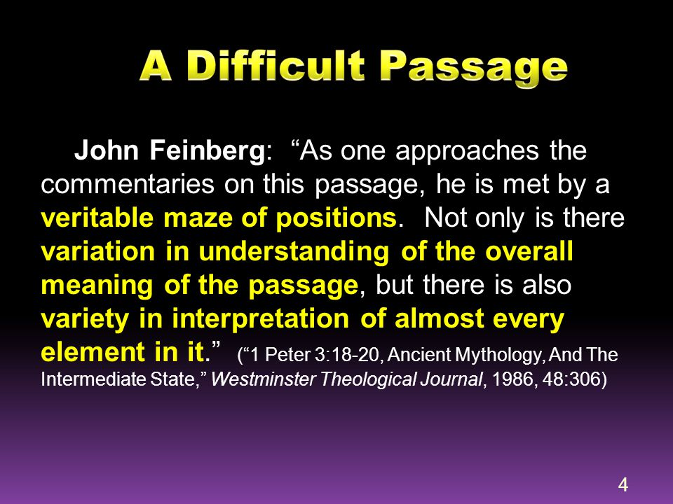 A Difficult Passage