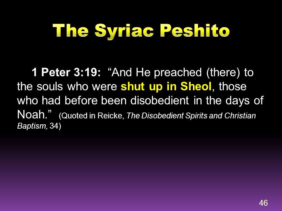 The Syriac Peshito